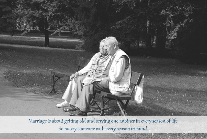 Marriage is about getting old